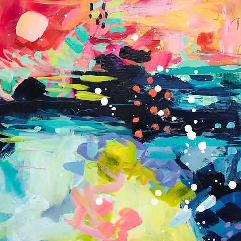 """""""On The Horizon"""" Original Acrylic Painting"""