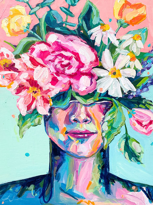 """""""She Was Inspired By Life"""" Original Acrylic Painting"""