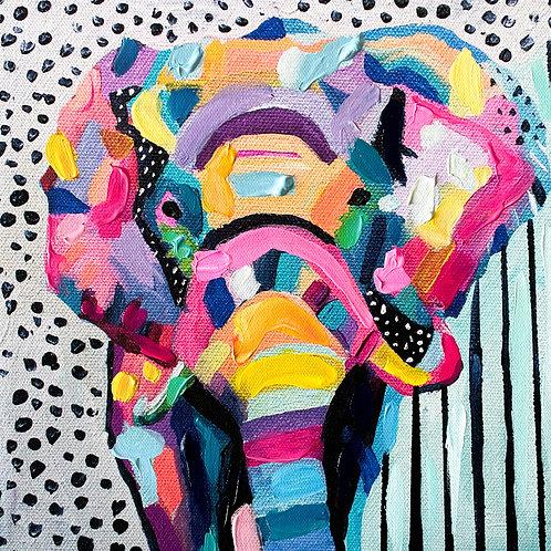 """Jungle Boogie"" Hand-Embellished Print"