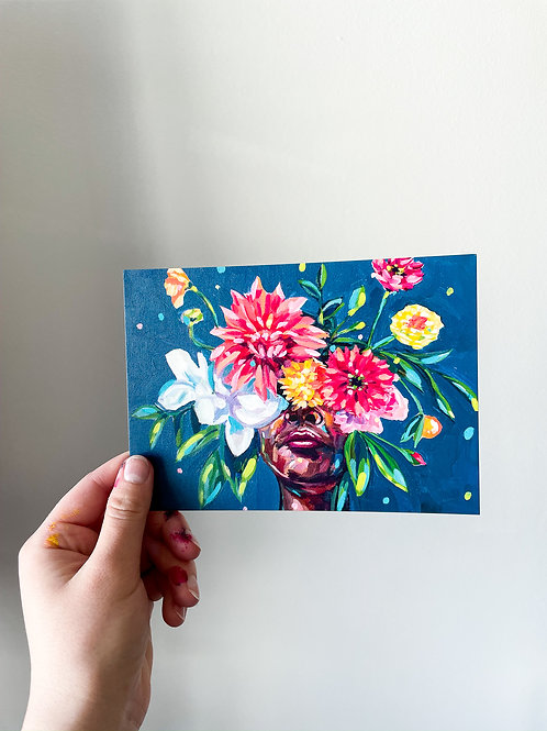 """She Was A Sunshine Seeker"" Postcard Print"