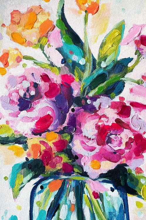 """Simple Sunshine"" Hand-Embellished Print"