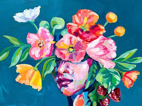 """She Was Kind & Sweet"" Original Acrylic Painting"