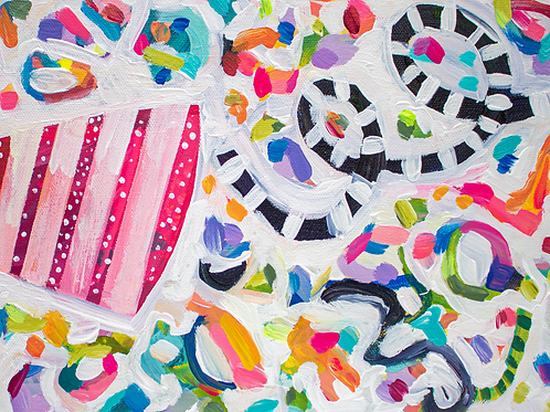 """Throw Some Confetti"" Original Acrylic Painting"