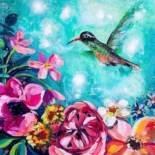 """""""Garden Magic"""" Original Acrylic Painting"""