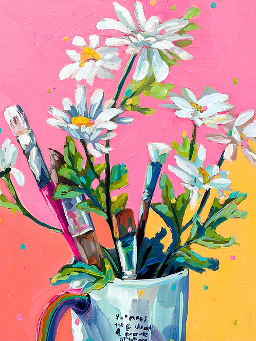 """""""The Thriving Artist's Tools"""" Original Acrylic Painting"""