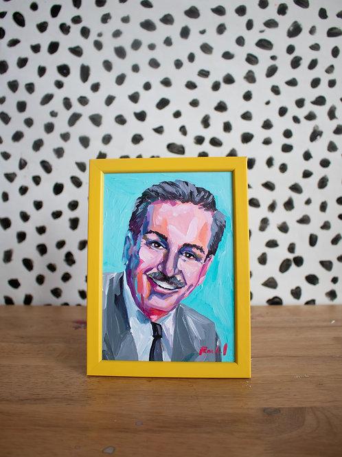 """Walt Disney no. 2"" Original Acrylic Painting"