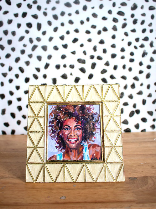 """Whitney Houston"" Original Acrylic Painting"