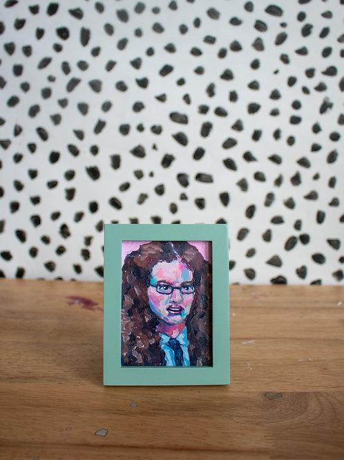"""""""Mia Thermopolis"""" Original Acrylic Painting"""