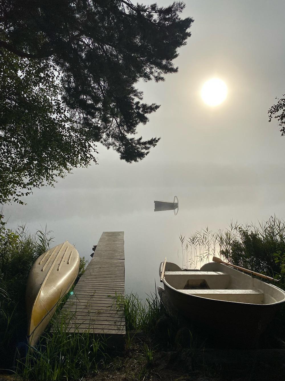 Sunrise on a Swedish lake