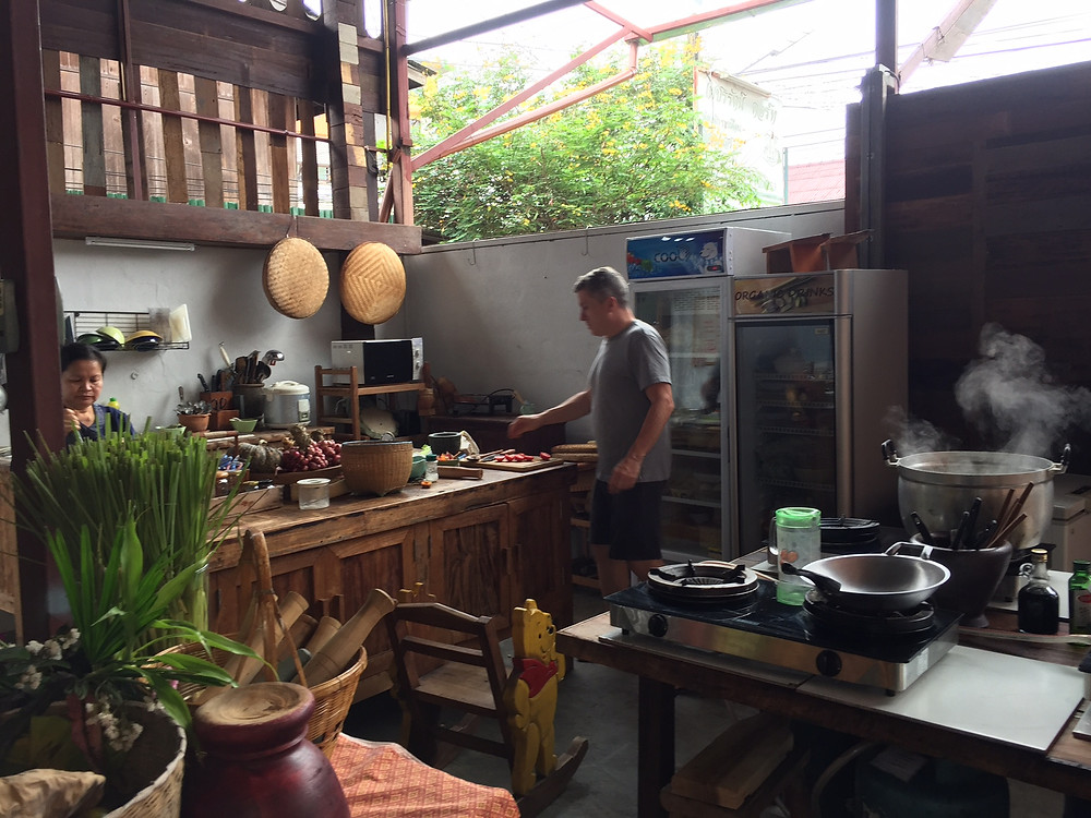 Cooking in a real home kitchen in Chiangmai