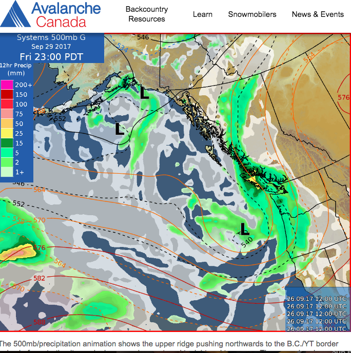 Click on the photo & be directed to Avalanche.ca/weather