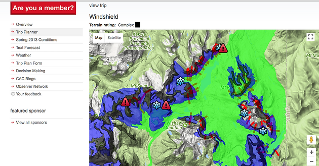 trip planner check this map out to assess terrain in your riding area