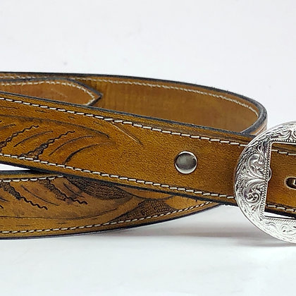 Veg Tan w/ Accented Silver Buckle