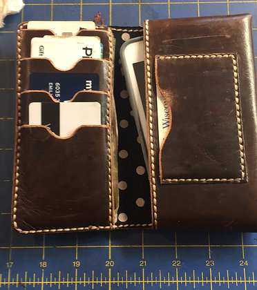 Ladies Cell Phone Clutch - Brown