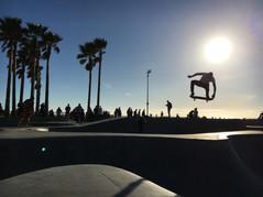 Arial Skateboard Venice Beach California