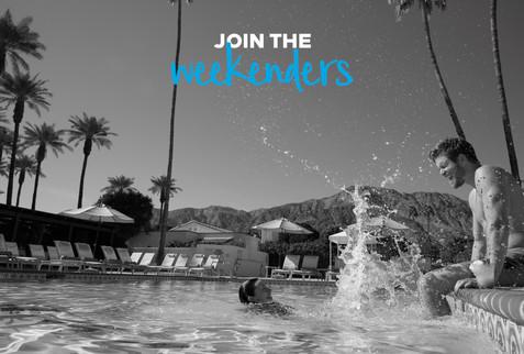 Hilton Weekenders poolside  advertising