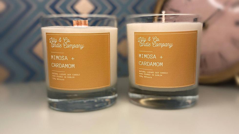 Crackling Wood Wick Mimosa + Cardamom