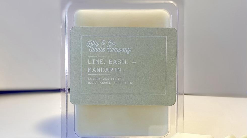 Lime, Basil + Mandarin - Luxury Wax Melt