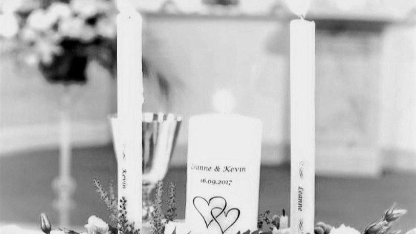 Personalised Wedding Unity Candle Set