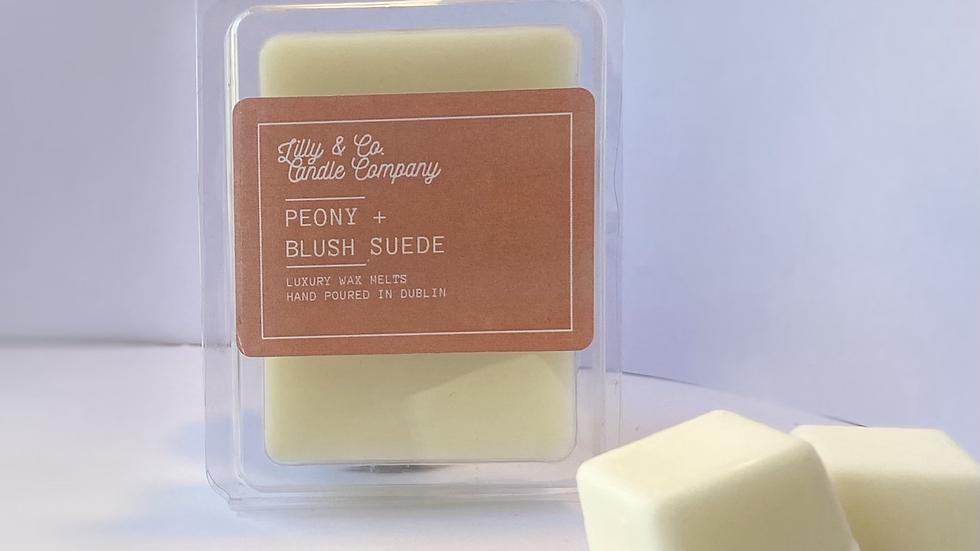 Peony + Blush Suede - Luxury Wax Melt