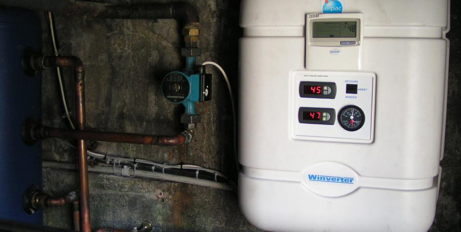 Air/Eau, chauffage et ECS (Eau Chaude Sanitaire) par Winverter.