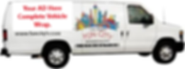 Fun City Van wrapped for advertising put