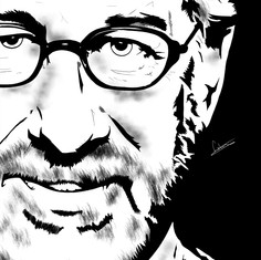 Steven Spielberg (Noir Portrait)
