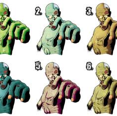 Cuddles The Zombie (Color Test)