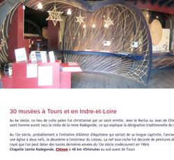 30 musées à Tours et en Indre-et-Loire