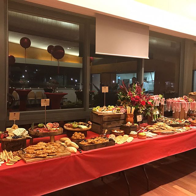 Tonight we catered for the dirty reds junior rugby annual cocktail dinner