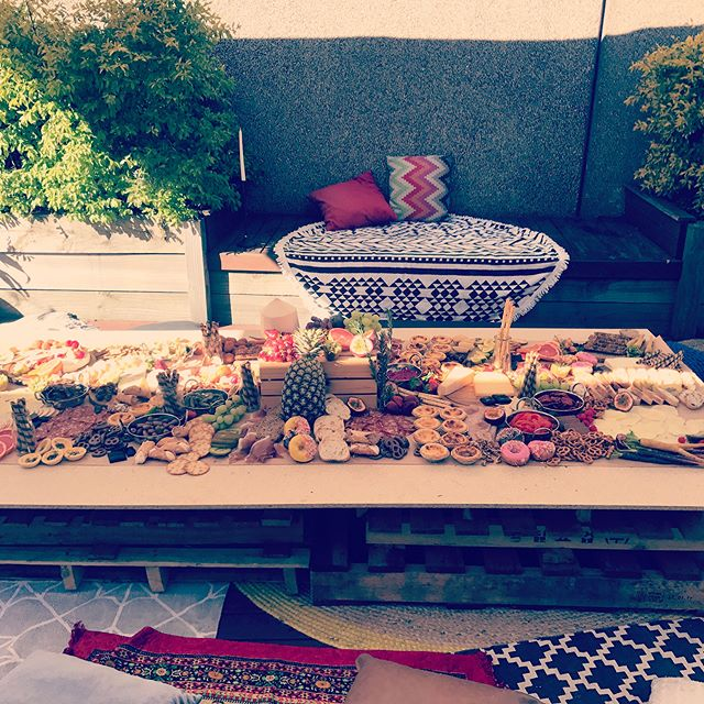 Today our 2 x 1 metre grazing table consisted of sweet and savoury