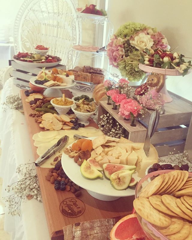 It's a girl!!!!!! Pan e antipasti styled and catered for a beautiful baby shower this morning