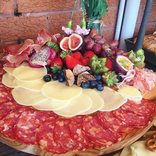 This platter needs no description #sydneycatering #wedding #antipasto #salumi #provolone