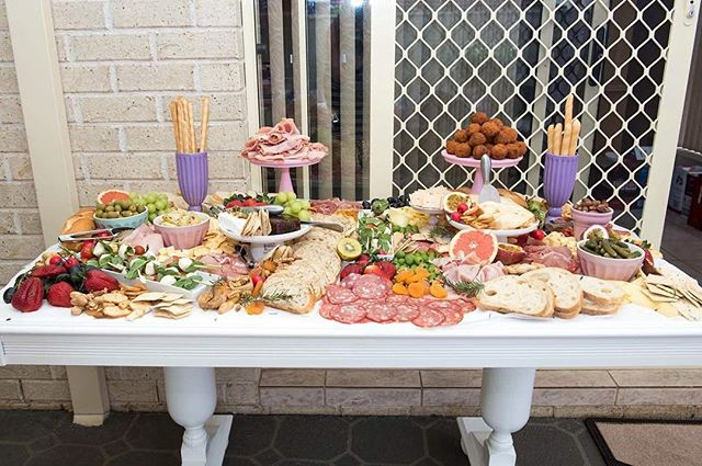 pan e antipasti had the honour of turning this table  into an edible masterpiece for a 2yo birthday
