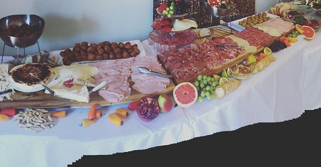 Feasting for a lovely ladies 80th birthday today #grazingtable#sydneycatering #antipasto #birthday