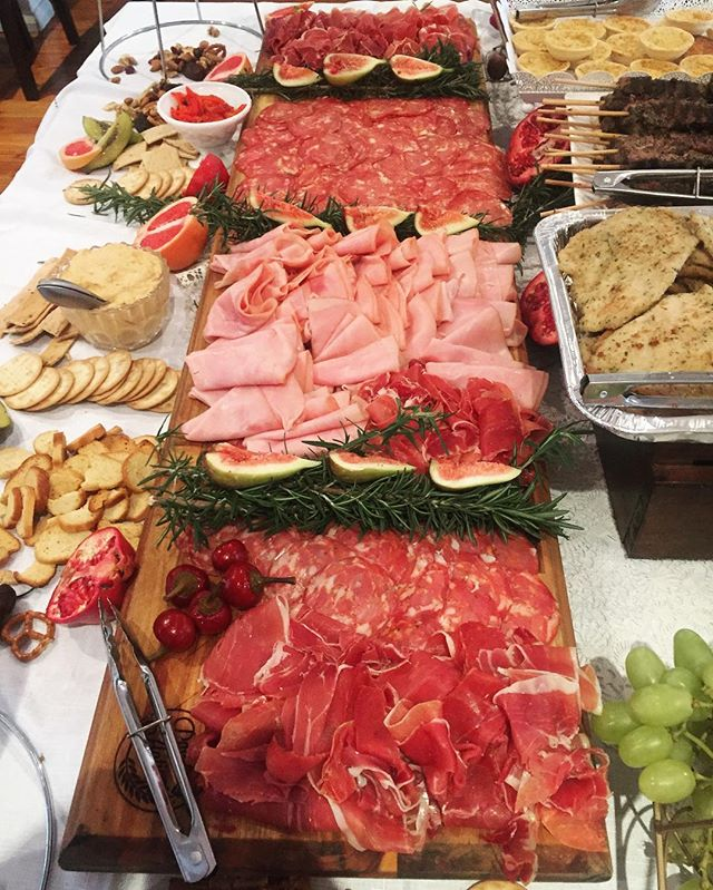 Pan e antipasti styled and catered for this lovely young ladies confirmation , as well as devouring