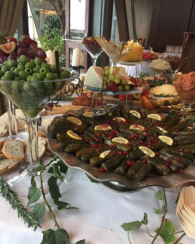 Turkish wedding, traditional dips, cheeses and delicac