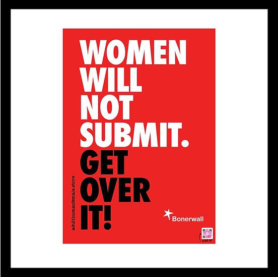 Women will not submit - A4 mighty stickers