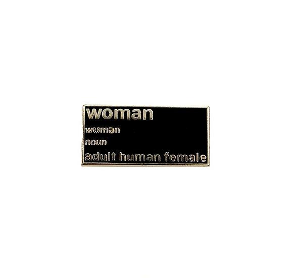 woman tiny enamel pin
