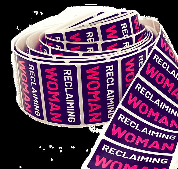reclaiming woman sticker