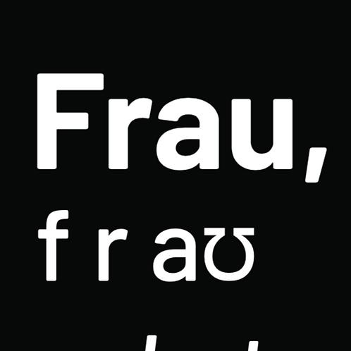 """""""Frau"""" definition PDF (white writing)"""