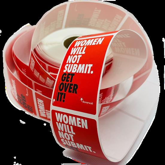 women will not submit sticker
