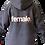 Thumbnail: female organic hoodie (grey)