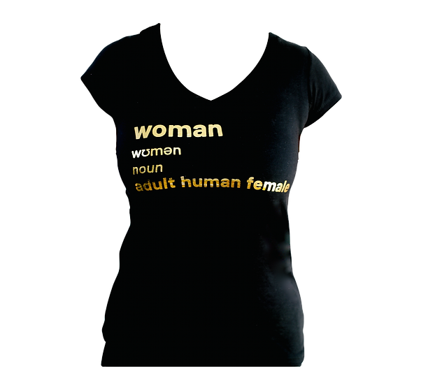 woman definition in gold
