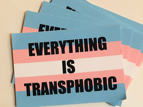 Everything is transphobic sticker