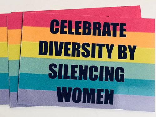 Silencing Women Sticker