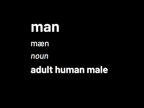 """man"" T-shirt with definition"