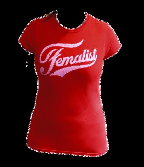 femalist pantone 210 t-shirt