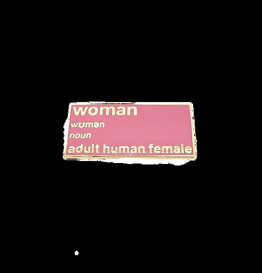 enamel pin - woman definition