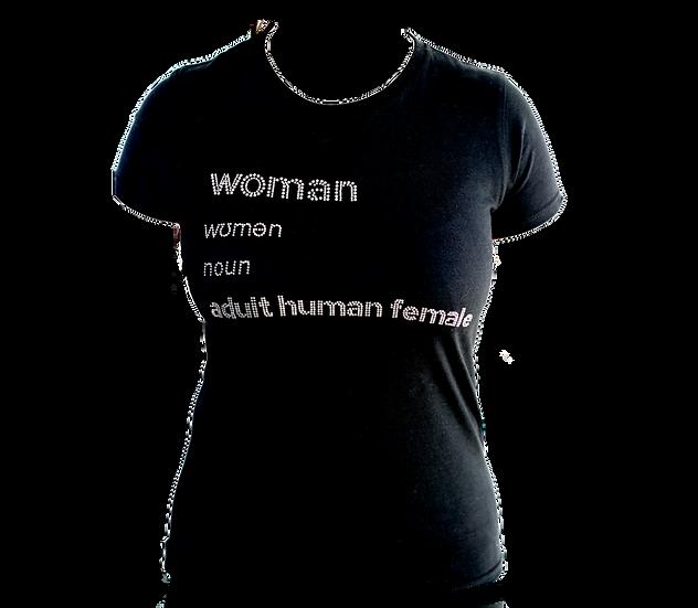 diamanté woman definition t shirt